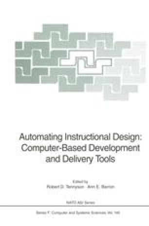 Automating Instructional Design: Computer-Based Development and Delivery Tools