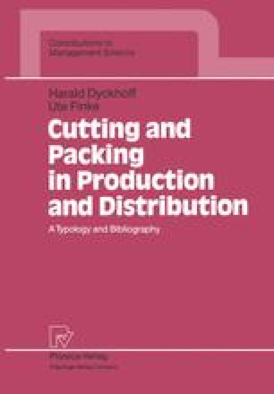 Cutting and Packing in Production and Distribution