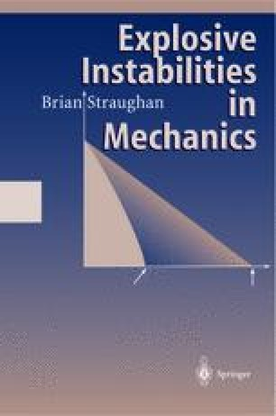 Explosive Instabilities in Mechanics