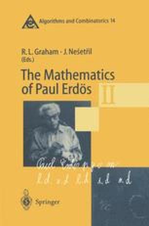 The Mathematics of Paul Erdös II