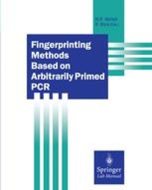 Fingerprinting Methods Based on Arbitrarily Primed PCR