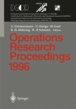 Operations Research Proceedings 1996