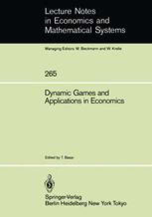 Dynamic Games and Applications in Economics