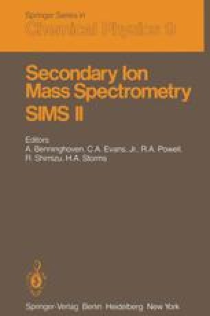 Secondary Ion Mass Spectrometry SIMS II