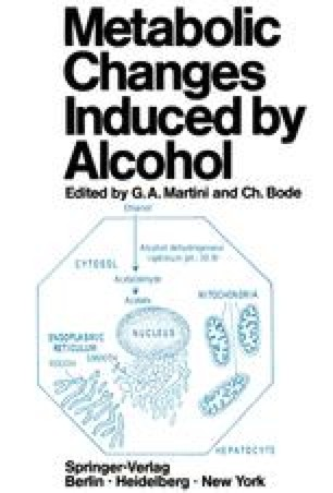 Metabolic Changes Induced by Alcohol