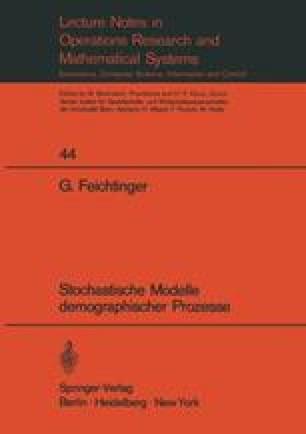 Stochastische Modelle demographischer Prozesse