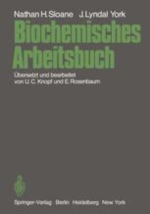 Biochemisches Arbeitsbuch