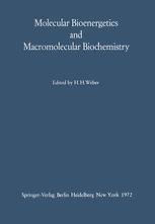 Molecular Bioenergetics and Macromolecular Biochemistry