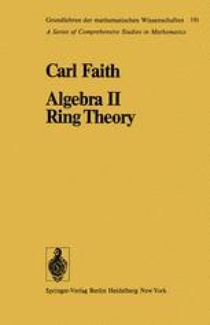 Algebra II Ring Theory