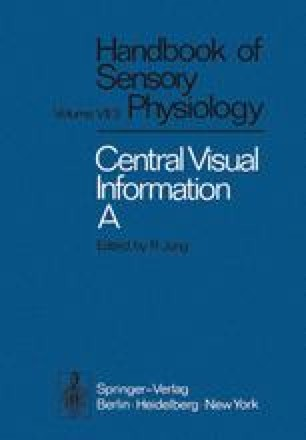 Central Processing of Visual Information A: Integrative Functions and Comparative Data
