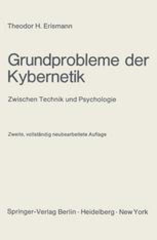 Grundprobleme der Kybernetik