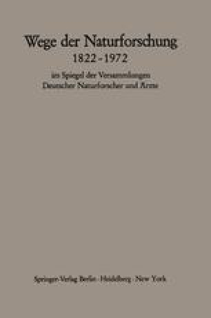 Wege der Naturforschung 1822–1972