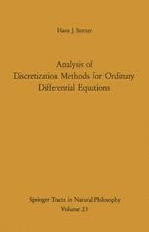 Analysis of Discretization Methods for Ordinary Differential Equations