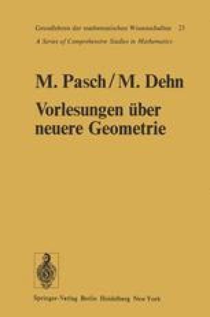Vorlesungen über die neuere Geometrie