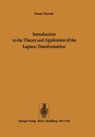 Introduction to the Theory and Application of the Laplace Transformation