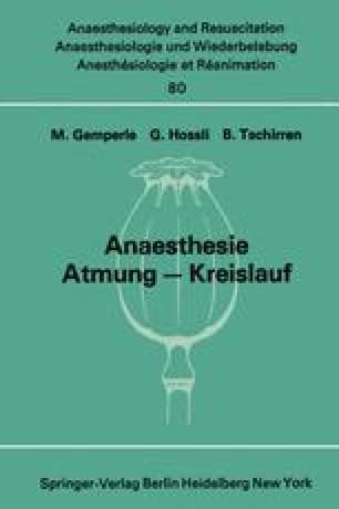 Anaesthesie Atmung — Kreislauf