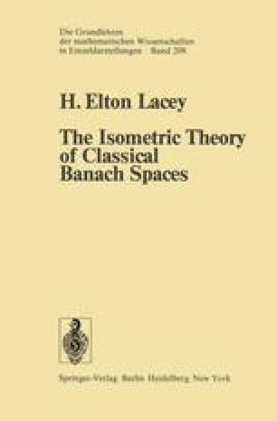 The Isometric Theory of Classical Banach Spaces
