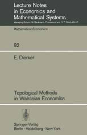 Topological Methods in Walrasian Economics