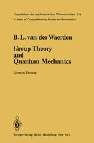 Group Theory and Quantum Mechanics