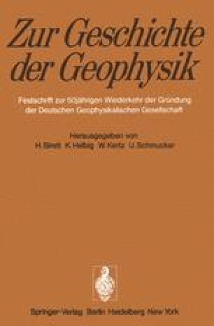Zur Geschichte der Geophysik