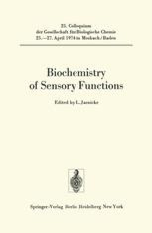 Biochemistry of Sensory Functions