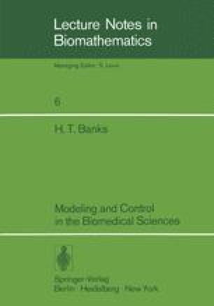 Modeling and Control in the Biomedical Sciences