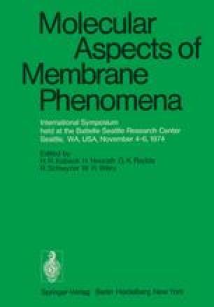 Molecular Aspects of Membrane Phenomena