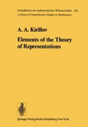Elements of the Theory of Representations
