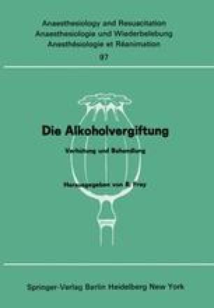 Die Alkoholvergiftung