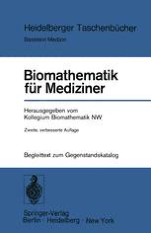 Biomathematik für Mediziner