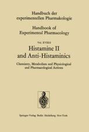 Histamine II and Anti-Histaminics