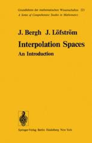 Interpolation Spaces