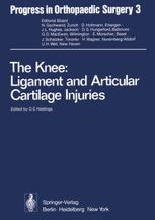 The Knee: Ligament and Articular Cartilage Injuries