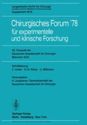 95. Kongreß der Deutschen Gesellschaft für Chirurgie, München, 3. bis 6. Mai 1978