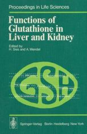 Functions of Glutathione in Liver and Kidney