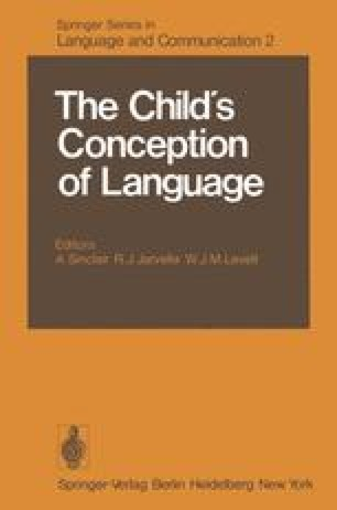 The Child's Conception of Language
