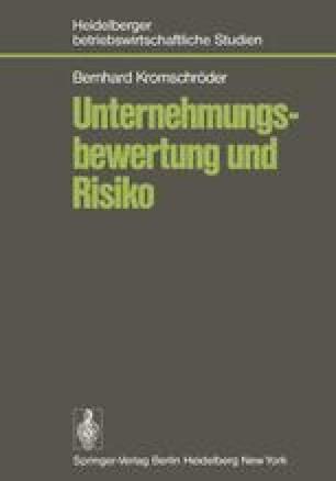 Unternehmungsbewertung und Risiko