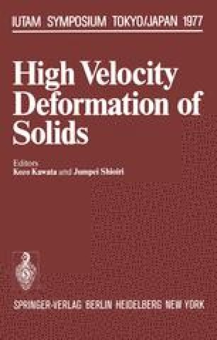 High Velocity Deformation of Solids