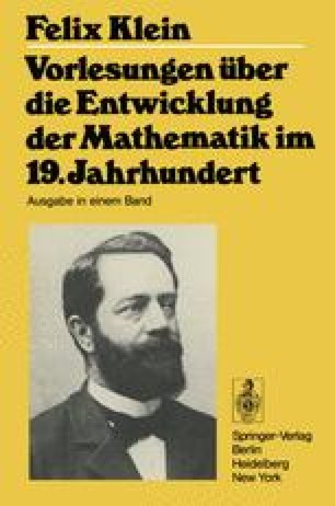 Vorlesungen über die Entwicklung der Mathematik im 19. Jahrhundert