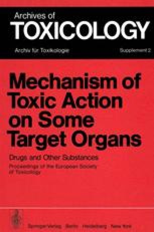 Mechanism of Toxic Action on Some Target Organs