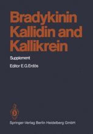 Bradykinin, Kallidin and Kallikrein