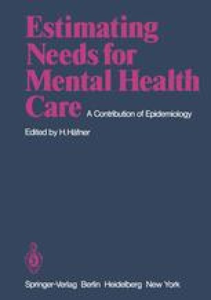 Estimating Needs for Mental Health Care