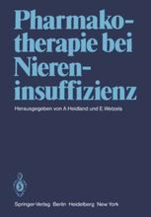 Pharmakotherapie bei Niereninsuffizienz