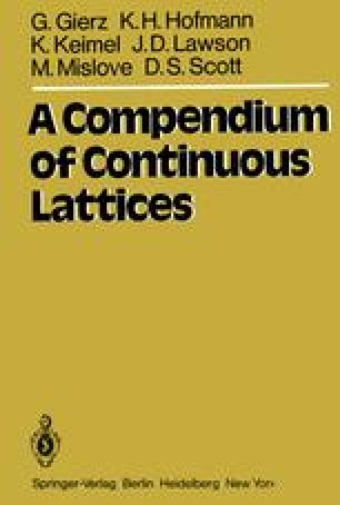 A Compendium of Continuous Lattices