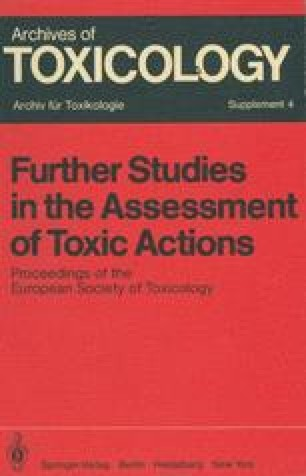 Further Studies in the Assessment of Toxic Actions
