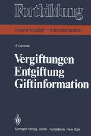 Vergiftungen Entgiftung Giftinformation