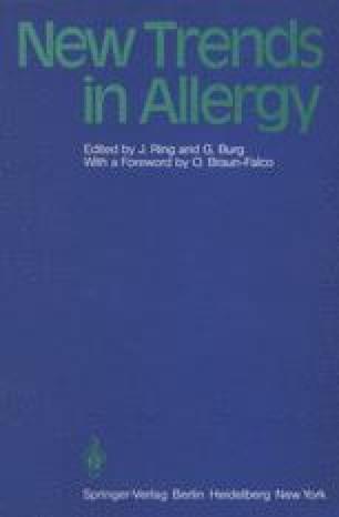 New Trends in Allergy