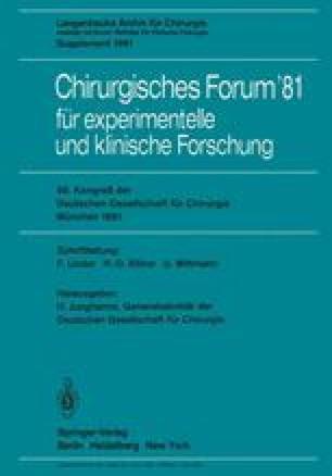 Chirurgisches Forum '81 für experimentelle und klinische Forschung
