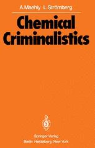Chemical Criminalistics