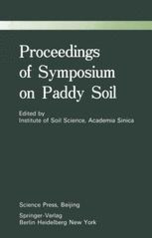 Proceedings of Symposium on Paddy Soils